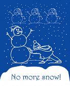 Destrucción de muñecos de nieve. No más nieve
