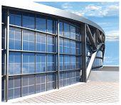 Постер, плакат: Спортивный стадион модель