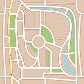 City map abstract seamless background