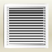 Photorealistic bathroom ventilation window. vector