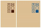 Cardbox vector texture and post signs