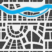 Nahtlose Hintergrund Stadtplan