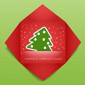 Color polygonal christmas greeting card. Place your text here