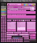 Web design elements pink. Vector illustration