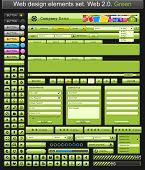 Web design elements green. Vector illustration