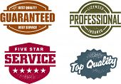 Professional Service Vintage Style Stamps
