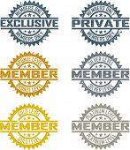 Mitgliedschaft-Briefmarken