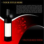 Vector Red Wine Background For Text