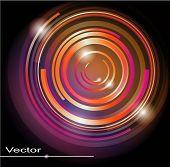 Abstract Vector glänzend Kreis Hintergrund