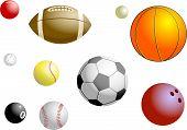 Постер, плакат: Спортивные мячи