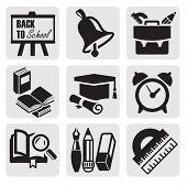 ícones de escola