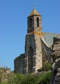 An Old Medevil English Church On Holy Island