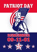 American Patriot Day Poster 911 Greeting Card