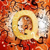 Question Mark Symbols Depicting Puzzle Solving
