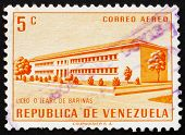 Postage stamp Venezuela 1956 O'Leary School, Barinas