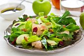 Apple ,Grapefruit and almond salad
