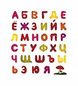 multicolored russian abc