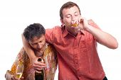 Drunken Men Drinking Alcohol