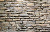 Stacked Flat Stone Block Wall