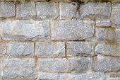 Stacked Stone Block Wall