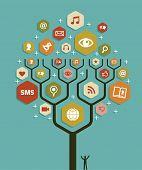 Web marketing Geschäftsplan Baum