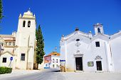 Square Of Alvito Village, Alentejo, Portugal