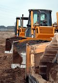 Bull Dozers Lined Up