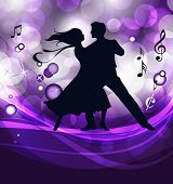 Ballroom dancers. This illustration is an EPS10 file and contains several transparencies blend, its