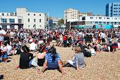 HASTINGS, ENGLAND - JULY 22: Pirates assemble on the beach in a successful attempt to regain the Gui
