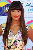 LOS ANGELES - JUL 22:  Hannah Simone arriving at the 2012 Teen Choice Awards at Gibson Ampitheatre on July 22, 2012 in Los Angeles, CA