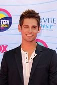 LOS ANGELES - JUL 22:  Jean-Luc Bilodeau arriving at the 2012 Teen Choice Awards at Gibson Ampitheat
