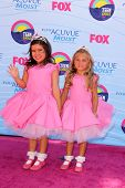 LOS ANGELES - JUL 22:  Sophia Grace Brownlee, Rosie McClelland arriving at the 2012 Teen Choice Awar