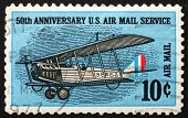 Postage stamp USA 1968 Curtiss Jenny, Biplane