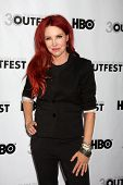 LOS ANGELES - JUL 22:  Gretchen Bonaduci (Re-inventing Bonaduce) arrives at the 2012 Outfest Closing