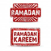 Stamp of Ramadan or Ramadan Kareem. EPS 10.