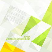grüne Farbskala geometrischen abstrakten Hintergrund. Vektor, eps10