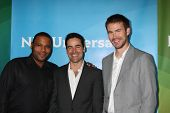 LOS ANGELES - JUL 24:  Anthony Anderson, Jesse Bradford, Zach Cregger arrives at the NBC TCA Summer