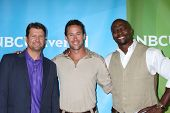 LOS ANGELES - JUL 24:  Todd Palin, Brent Gleeson, Terry Crews arrives at the NBC TCA Summer 2012 Pre