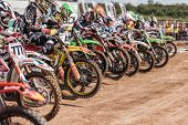 SEMIGORJE, RUSSIA - JULY 22: Unidentified riders at Grand Prix of Russia of FIM Motocross World Cham