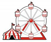 Circus Tent And Ferris Wheel