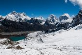 Famous Peaks From Renjo Pass: Everest, Makalu, Lhotse, Nuptse