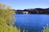Parker dam on lake Havasu in Arizona