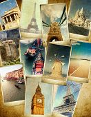 stock photo of parthenon  - vintage travel background - JPG