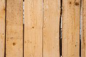 Unpainted Wooden Fence