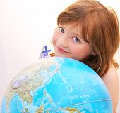 Girl Travel Globe.