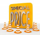 Illustration of a decorative special price icon