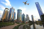 Shanghai Lujiazui landmark city landscape poster