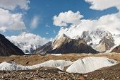 K2 And Broad Peak In The Karakorum Mountains