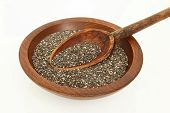 Wooden Spoon In Chia Seeds