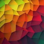picture of color geometric shape  - Abstract colorful patches background - JPG
